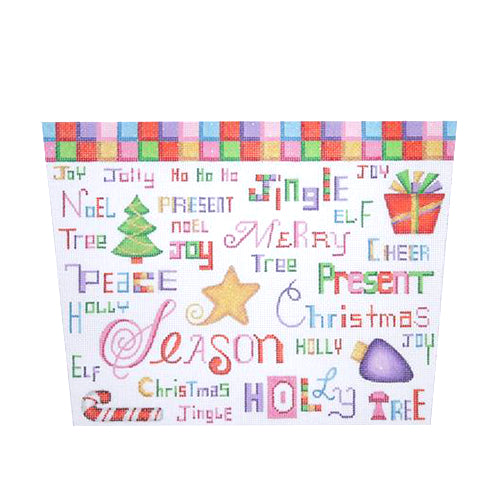 BB 1720 - Stocking Topper - Colorful Christmas Words