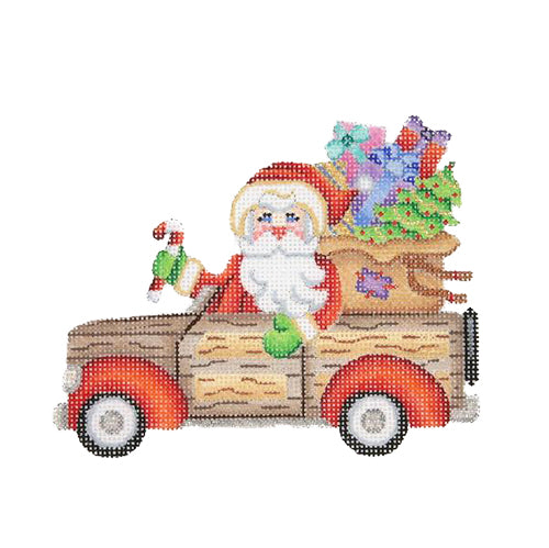 BB 1736 - Santa in a Woodie Station Wagon