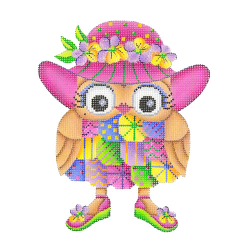 BB 1789 - Owl - Pink Hat & Shoes