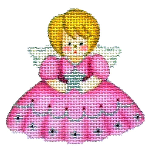 BB 2168 - Mini Ornament - Angel in Pink Dress