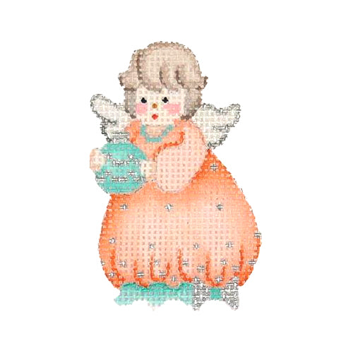 BB 2170 - Mini Ornament - Angel in Peach Dress