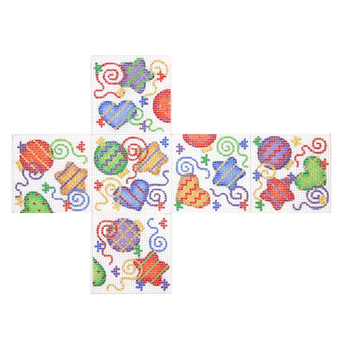 BB 2227 - 3-D Package - Stars, Hearts & Ornaments