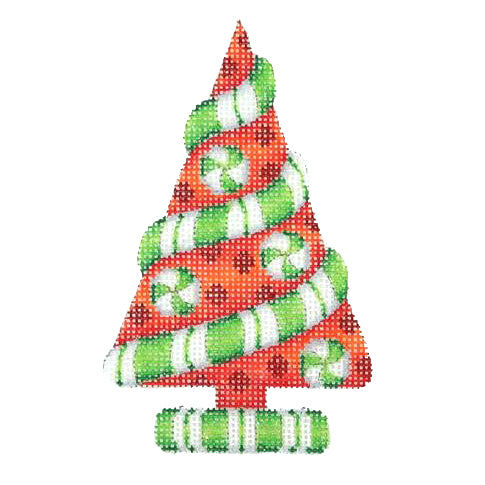 BB 2285 - Red Tree with Peppermint Twist