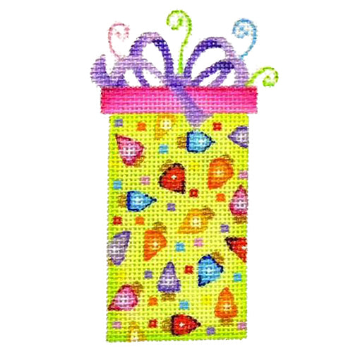 BB 2292 - Green Package - Lights & Purple Bow