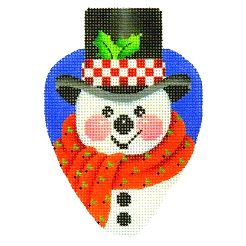 BB 2382 - Snowman with Black Hat Light Bulb