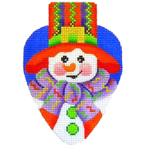 BB 2383 - Snowman with Red Hat Light Bulb