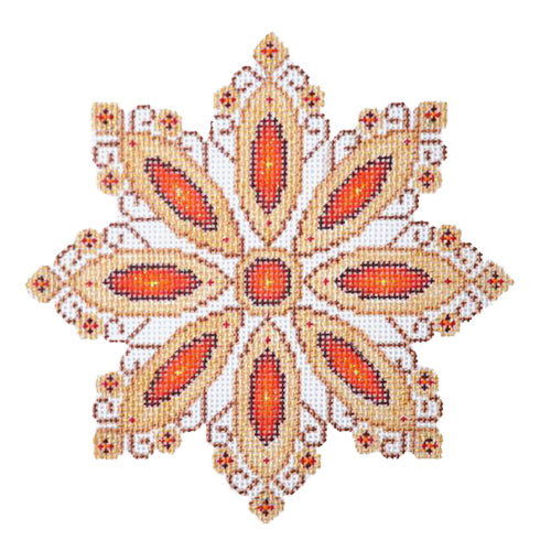 BB 2514 - Red Jeweled Snowflake