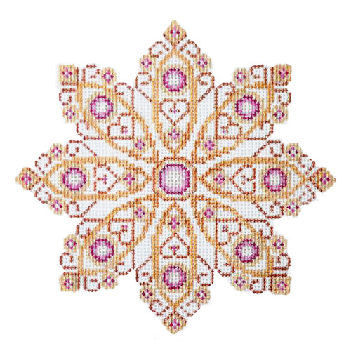 BB 2515 - Pink Jeweled Snowflake