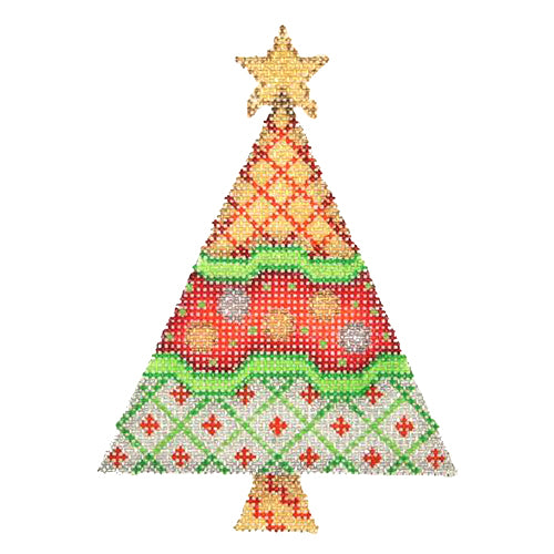 BB 2546 - Triangle Tree - Gold, Red & White