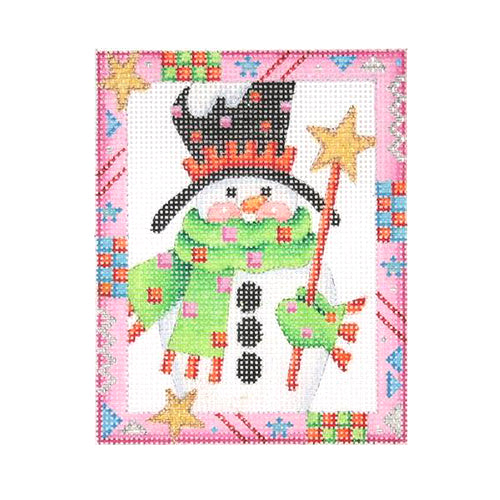BB 2615 - Whimsy Border Ornament - Snowman with Star Wand