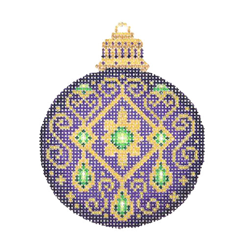 BB 2663 - Jeweled Christmas Ball - Purple
