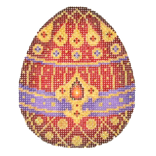 BB 2699 - Jeweled Egg - Red, Purple & Gold