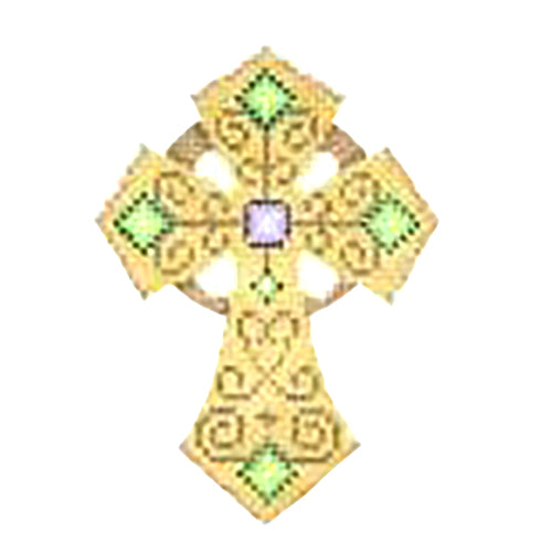 BB 2744 - Cross - Gold with Scrollwork