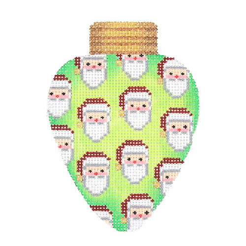BB 2823 - Christmas Light - Green with Santa Faces