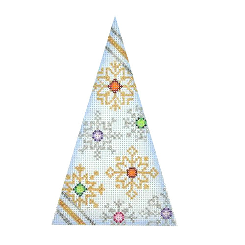 BB 2978 - Triangle Ornament - Snowflakes on Light Blue