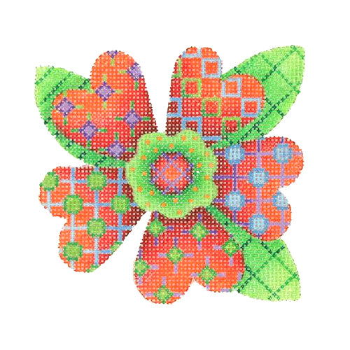 BB 3090 - Patterned Florals - Single Red