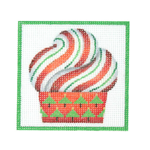 BB 3195 - Square Ornament - Cupcake