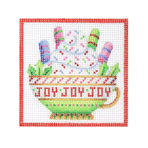 BB 3196 - Square Ornament - Joy Teacup