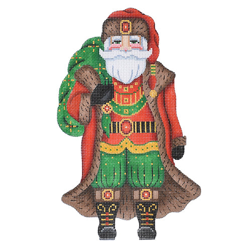 BB 6010 Large Santa - Red Coat Holding Green Sack