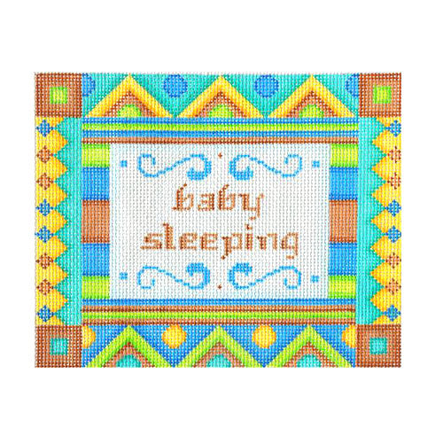 BB 6041 - Baby Sleeping Sign - Brown & Blue Shapes