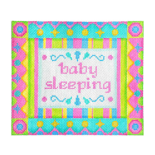 BB 6042 - Baby Sleeping Sign - Pink & Green Shapes