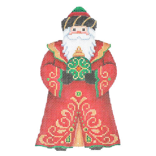 BB 6048 - Santa Claus - Red Robe with Green Ornament