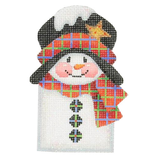 BB 0032 - Snowman Picket - Red Scarf