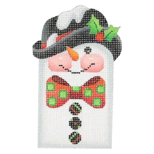 BB 0033 - Snowman Picket - Polka Dot Bow Tie