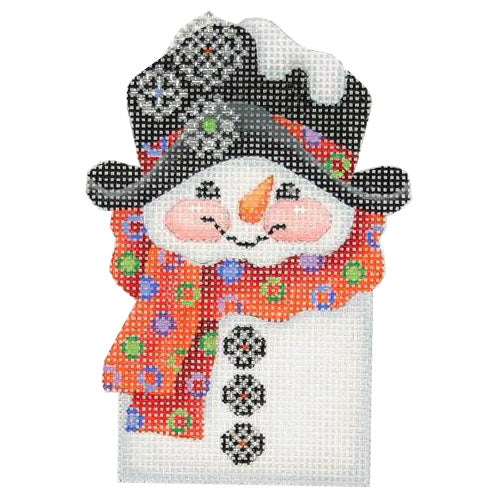 BB 0035 - Snowman Picket - Red Polka Dot Scarf