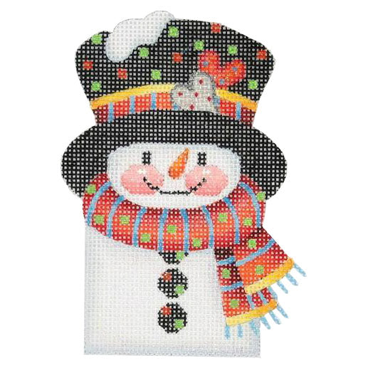 BB 0036 - Snowman Picket - Stripes & Dots Scarf