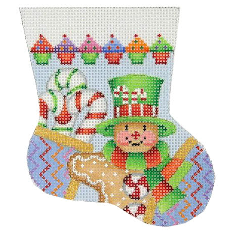 BB 0099 - Gingerbread Man Mini Stocking