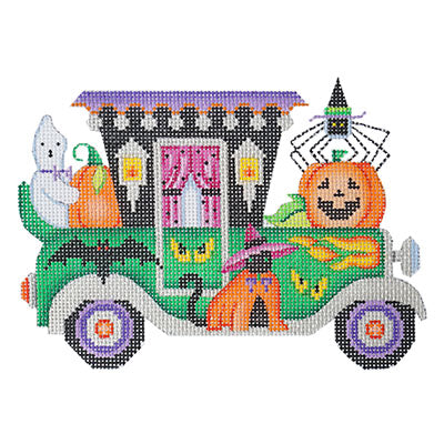 BB 6033 - Halloween Car - Vintage Green Car