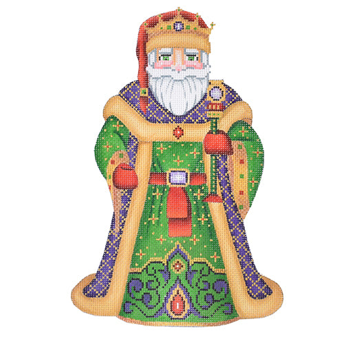 BB 6008 Large Santa - Purple Coat with Crown