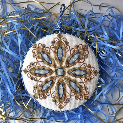 BB 2516 - Blue Jeweled Snowflake