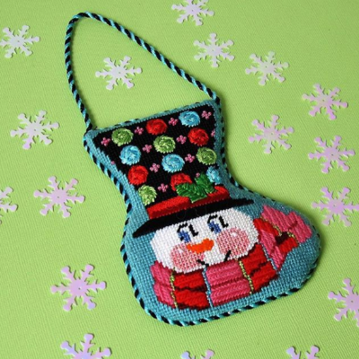 BB 1225 - Top Hat Snowman - Multicolor Dots