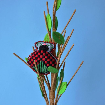 BB 1564 - Lady Bug - Red & Black Checkered