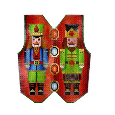 BB 3102 - Christmas Vest - Nutcracker on Red