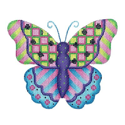 BB 3155 - Butterfly - Blue, Pink, Green & Purple