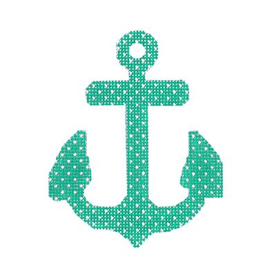 BB 6097 - Anchors - Seafoam with Dots