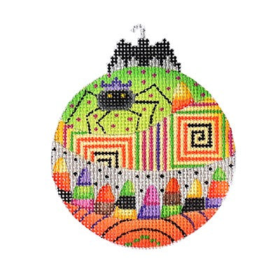 BB 6101 - Halloween Bat Bauble - Spider & Candy Corn