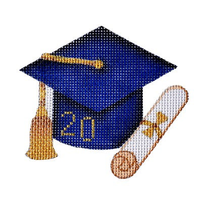BB 6134 - Graduation Cap - Navy Blue