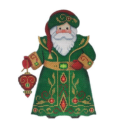 BB 6047 - Santa Claus - Green Robe with Red Ornament