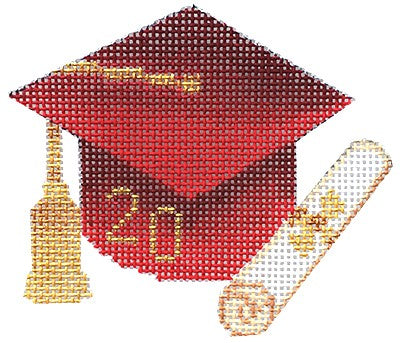 BB 6062 - Graduation Cap - Red with Year