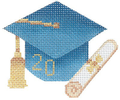 BB 6063 - Graduation Cap - Light Blue with Year