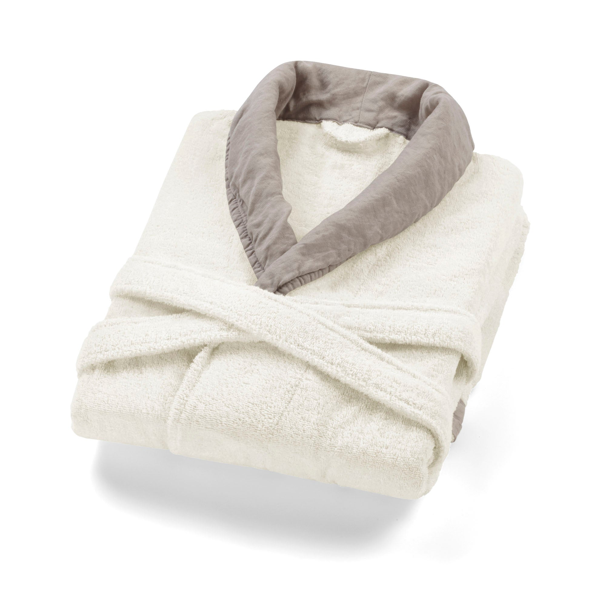 Hampton Bornoz Ivory Warm Gray SM