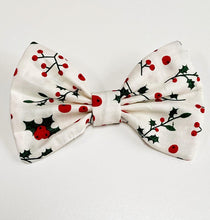 Load image into Gallery viewer, Christmas Holly Bow Tie