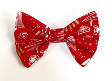 Load image into Gallery viewer, Glittery Christmas Bow Tie - Red