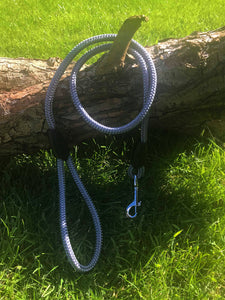 Silver Grey Rope Lead