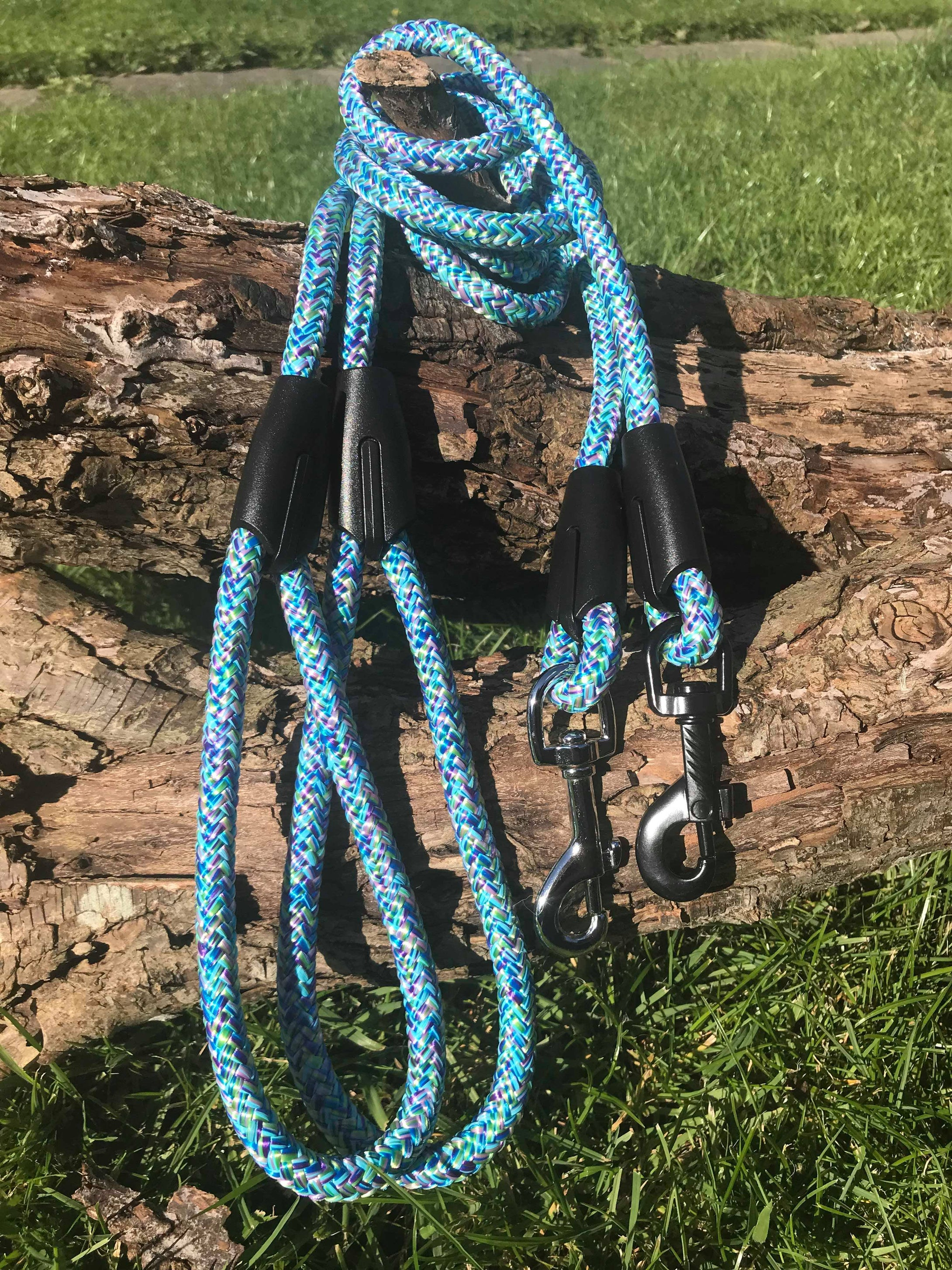 Blue Swirl Rope Lead