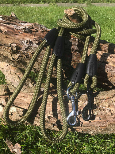 Olive Green Rope Lead